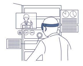 技術伝承サービス「AR匠」を用いた現場作業イメージ