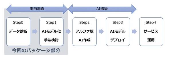 AIによるサービス運用までの流れ 出典:スカイディスク