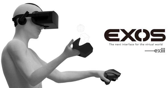 exiiiは現在、VR向け触覚ウェアラブルデバイス「EXOS」の開発に取り組んでいる