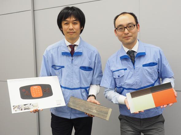 カシオ計算機 八王子技術センター 2.5D事業部 技術開発部 第一開発室 リーダーの堀内雄史氏(左)と、同じく2.5D事業部 設計・技術室 リーダーの岩本健士氏(右)