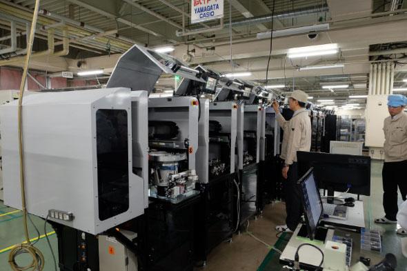 2018年内に稼働予定の山形カシオの「チープカシオ」生産自動化ライン