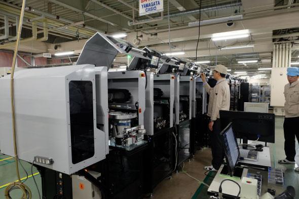 チープカシオの生産自動化ライン