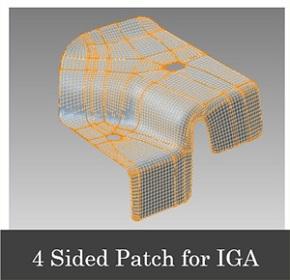CADモデルから変換されたIGAモデル 出典:JSOL