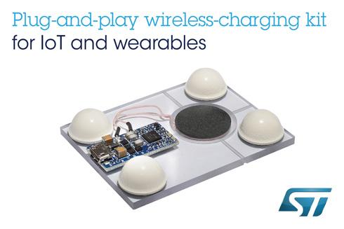 プラグアンドプレイ型のワイヤレス充電器開発キット「STEVAL-ISB045V1」