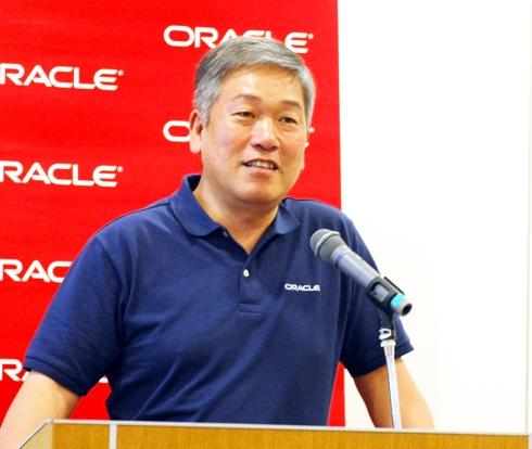 日本オラクルの代表執行役社長 遠藤隆雄氏
