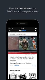 NTYが無償化したモバイルアプリ「NTY Now」《クリックで拡大》