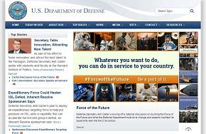 米国防総省の公式サイト
