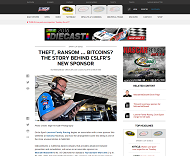 NASCARのWebサイト