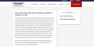 トランプ氏ウェブサイト