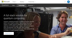 量子コンピューティングに関するMicrosoftのWebサイト